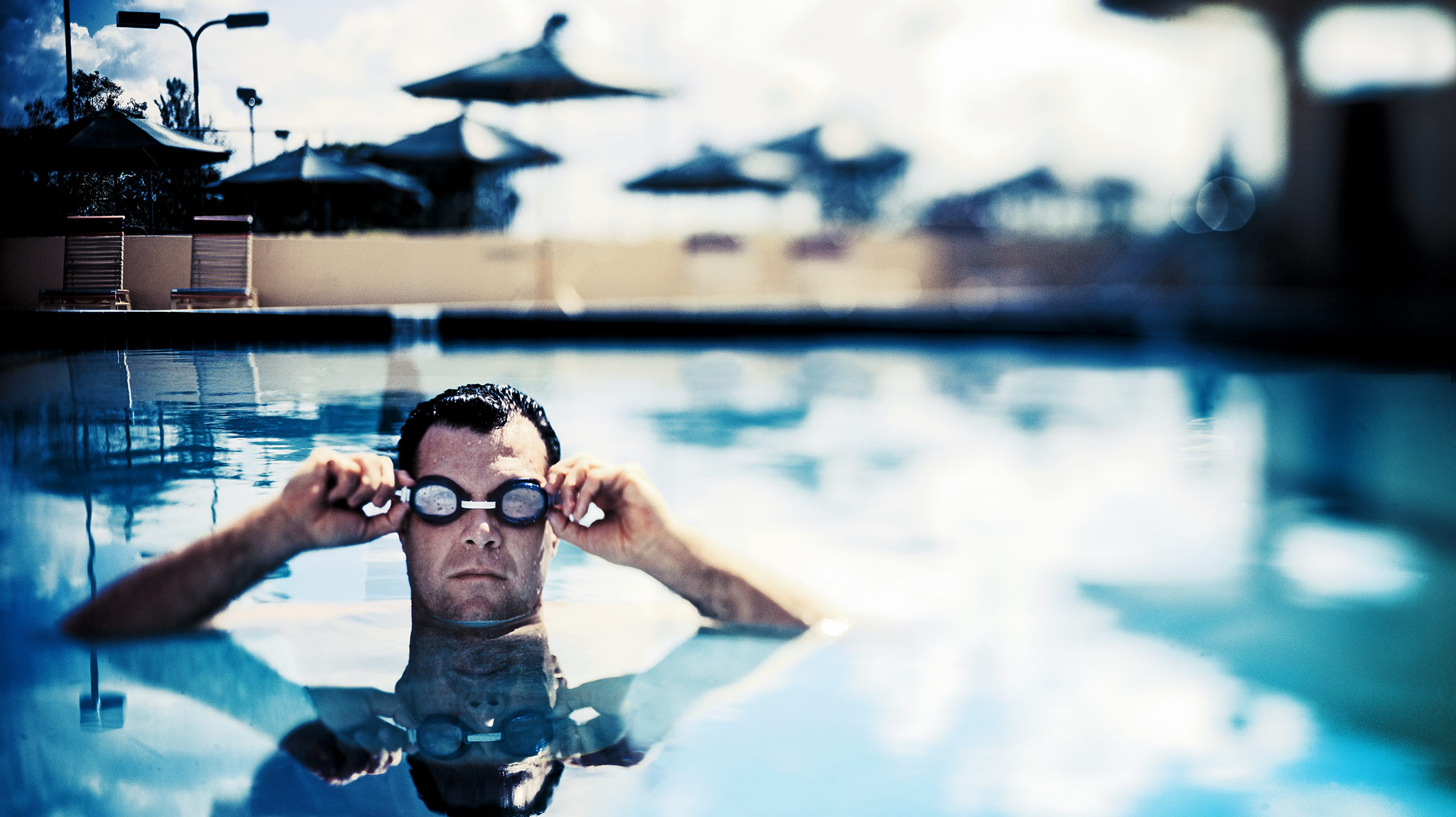 Resort Swimmer With Goggles