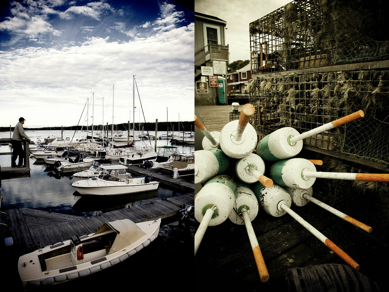 Maine Marina And Lobster Traps